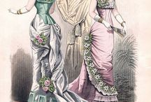 Early 1880s evening gowns