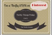 Thrifty Things Friday Features / Fun blog linkups to the TTF weekly party at The Thrifty Groove