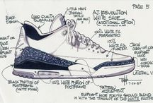 "A Genesis | Air Jordan 3 / Inspirations, moods, and studies that aided the development of the Mad Wonders Air Jordan 3 piece, ""A Genesis."""