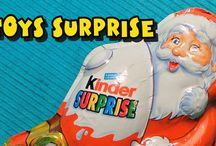 Toys Surprise / Kinder Surprise, Egg Surprise, Disney Collector, Angry Birds Egg Surprise, Play Doh, Maxi Kinder Surprise, Santa Claus Kinder Surprise, Fantasy Egg Surprise ...