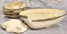 """Nautical Pottery / Beautiful Handmade Pottery, designed and made by our family run business """"Mussels and More Pottery"""". Our work is inspired by life on the seashore and is brought back to life in a high fired porcelain clay body. Elegant and practical our pottery is a """"home run"""" when used for gift giving and for entertaining it's always the talk of the event."""