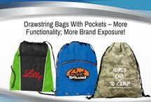 Personalized Pockets Drawstring Bags / Promotional Drawstrings with pockets. An easy find for you!