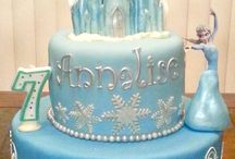 Frozen cakes / Frozen birthday cake ideas for Gemma 5 birthday