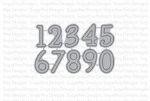 SugarCuts - Simple Numbers / SugarPea Designs - Simple Numbers Die Set Inspiration Board