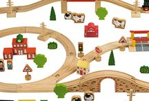 Wooden Trains / A selection of wooden train and train sets which we sell and some which we want to.