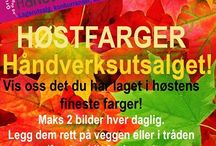 HØST fra medlemmene i Håndverksutsalget / Høstuke :-) https://www.facebook.com/groups/handverksutsalget/
