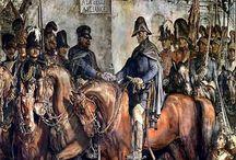 Wellington-Blücher / Treffen nach der Sclacht von Waterloo