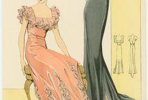 Fashion history illustrations