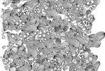 |   W i t h    M a r k e r s   &  pen   | / Tangles - doodle - Calligraphy / by | L i n d a B r u n |