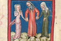 14th century headdresses / Headdresses from 1370 - 1400 in the Netherlands, UK, Belgium, Germany and France.