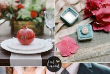Autumn Palettes / Autumn Weddings, colours and styles