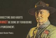 Robert Baden-Powell - Scouter Mom / Robert Baden-Powell was Lieutenant General in the British Army. He held the first Scouting encampment on Brownsea Island in England in 1907. He is considered the founder of the Scouting movement for youth. / by Scouter Mom