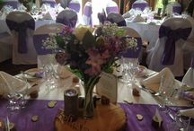 Woodland theme wedding flowers / Woodland feel table decorations