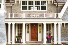 Curb Appeal / Curb appeal, home exterior, front door, entryway, front porch, walkways, driveways, garage doors, home facade