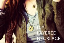 Layered necklace DIY