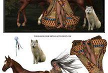cowboy og indianer + dyr