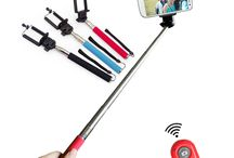 Extendable Handheld Selfie Stick Monopod + Clip + Bluetooth Shutter / The Extendable Handheld Selfie Stick Monopod + Adjustable Mobile Phone Mounting Clip + Wireless Bluetooth Remote Shutter is the complete set for your travel companion that allows you to take perfect selfies/group photos with your iPhone, Samsung, HTC mobile phones, Cameras, etc.