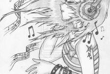 dibujos anime y personas