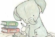 小兔和小象