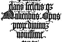 Blackletter Lettering