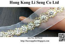 Beading Lace Trims Manufacturer Wholesaler and Supplier / Beading Lace Trims Factory http://lacesupplier.blogspot.com Garment Accessories Supplier  Hong Kong Li Seng Co Ltd E-mail: liseng@biznetvigator.com