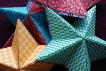 fabriquer une étoile en origami