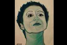 Portraits / Portraits by B. Calcagno. Olii on canvas
