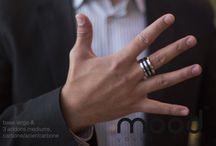 Mood collection - men's rings / bagues pour hommes / Bague interchangeables pour homme.  Bois précieux - aluminium - argent - titane - carbon