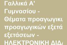 ΓΑΛΛΙΚΑ ΑΣΚΗΣΕΙΣ ΕΞΕΤΑΣΕΙΣ
