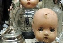 人形、ビンテージ、ハロウィン、他