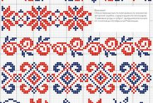 Cross stitch borders / by Phebe-and-Jane