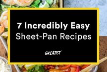 Sheet Dinners / Nothing is easier than making your entire meal on one baking sheet. These recipes are fast, easy, and make for speedy cleanup! Visit me at HousewifeHowTos.com for more.