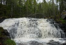 Koivuköngäs / Koivukönkään vesiputous Korouomassa Posiolla.