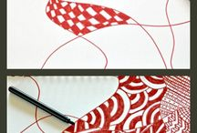 Zentangle / Zentangle is een meditatieve vorm van tekenen met herhalende patronen.