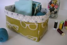 Sewing: Baskets / Fabric baskets - handy, pretty and they can be made from scraps.