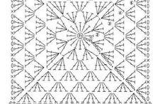 Horgolt négyzetek
