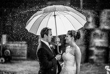 svatba v dešti