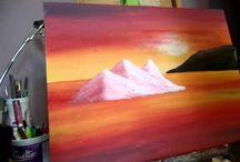 iceberg acrylic painting