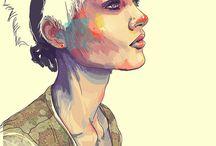 Portrait illustrations / by Julie-Audrey Beaudoin
