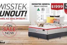OCTOBER 2017 Swisstek Runout! / Beds R US Swisstek Runout is ON NOW!  Save up to 57% on Queen Size Swisstek Geneva! HURRY!