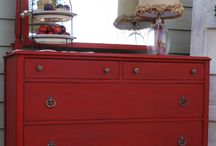 Red Dressers/Hutches