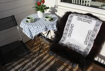 Handmade rugs and seat cushions from sheepskin