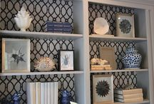 Styling Shelves and Vignettes