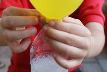 ballon bicarbonate et vinaigre