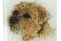Dog Collection / Our Dog collection features Greeting Cards, Gifts and Homeware, including Tea Towels and Coasters. Images taken from original watercolour paintings. Made in England and sent with love from our home to yours.