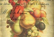 Овощи и фрукты / Картинки для декупажа