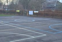 Football / Netball/ Basketball /Multi Sports Courts for the playground / football courts installed by first4playgrounds