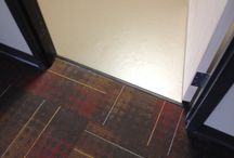 """Jain Dental / Jain dental in St. Louis Park.  Customer chose carpet tiles in 24"""" x 24"""" and 18"""" x 24"""".  Plans also called for vinyl flooring with heat welded seams. Heritage construction converted a former Pier One imports site to a dental clinic."""