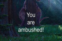 Treeosaur Theory / Radical but plausible theropod dinosaur hunting strategy: TREEOSAUR.COM