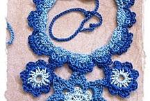 Collares Tejidos * Crochet Necklaces / lindas ideas y tutoriales para tejer collares / by Tupi'na Bijoux
